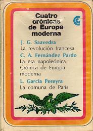 Cuatro crónicas de Europa moderna